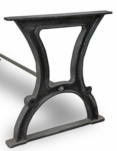 Industrial Cast Iron Dining Table Base Style 8 Dining Table