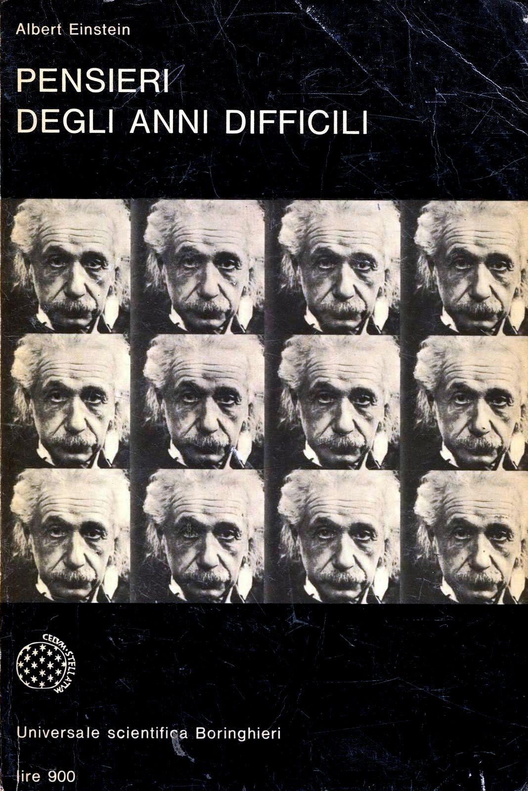 Albert Einstein Pensieri Degli Anni Difficili Boringhieri  # Muebles Einstein