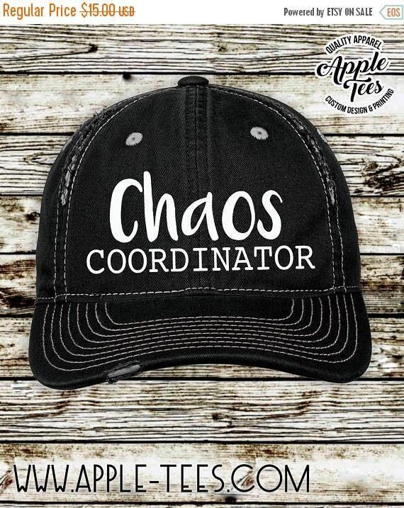 edf4d355230 Chaos Coordinator - Distressed Hat / Low Profile Cap / Trucker Hat ...