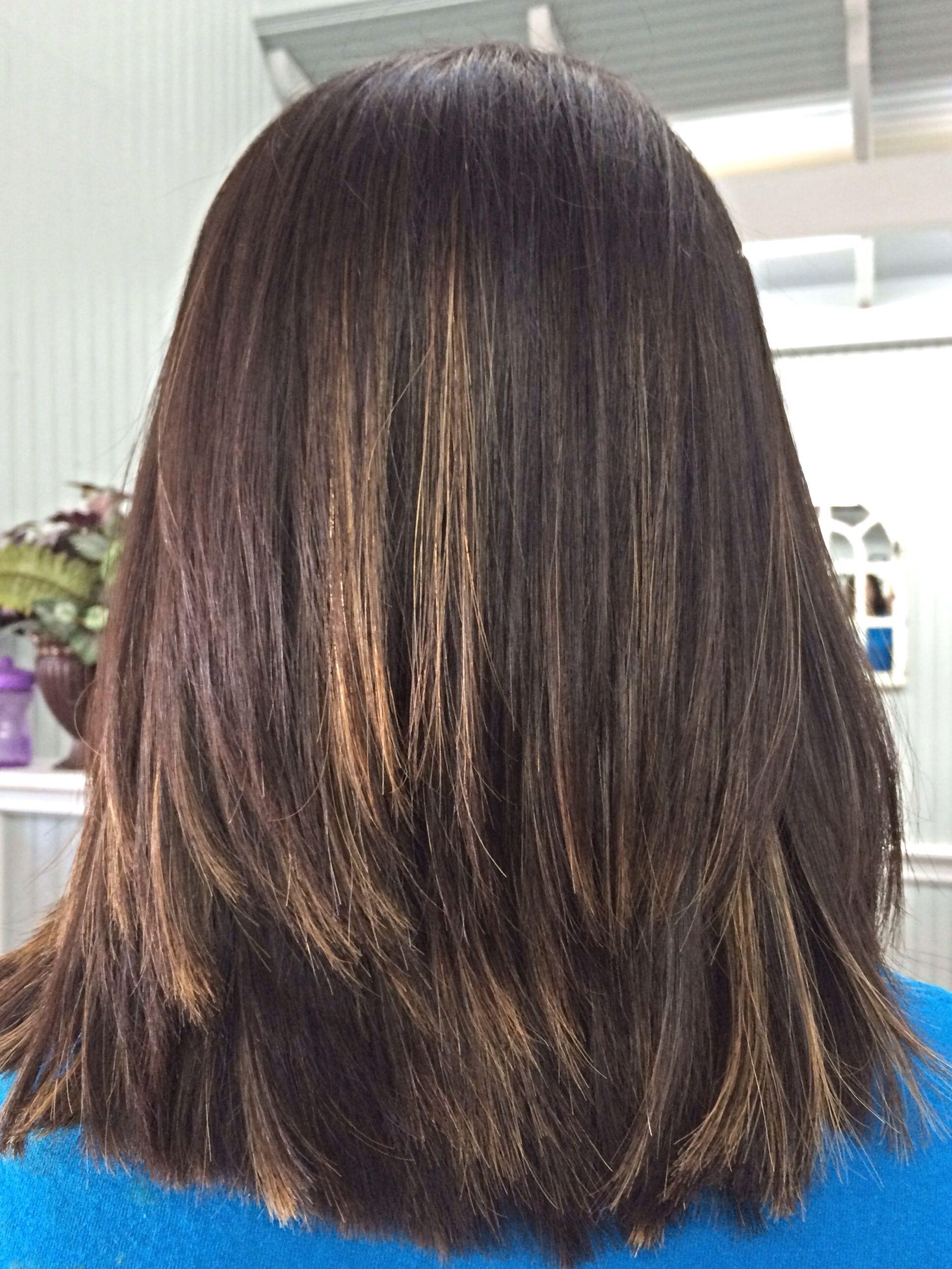 Short Hair Cut With Ombr Highlights Hair Goals Pinterest