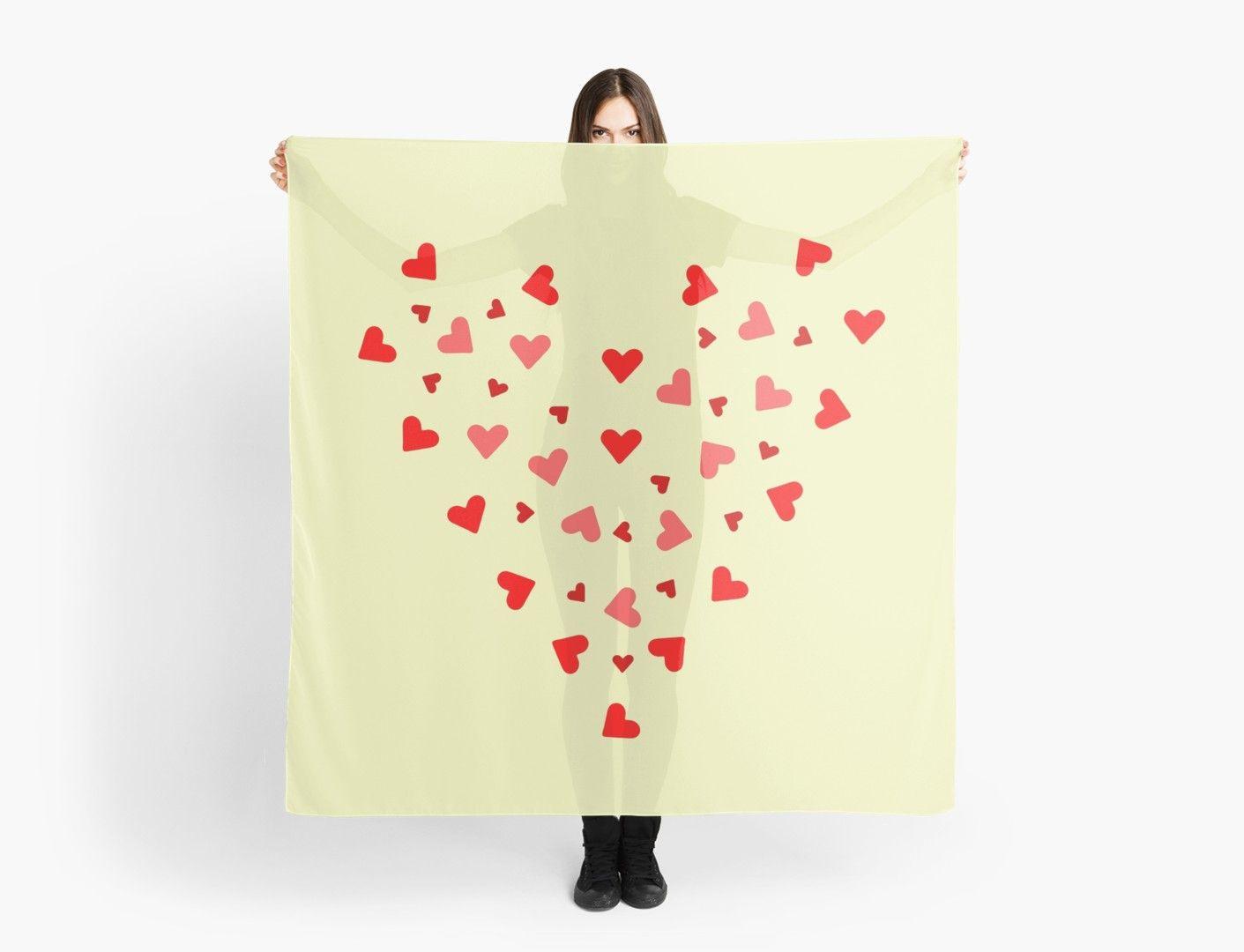 Valentinstag Rote Herzen Herz Liebe Tuch In 2019 Mode Damen Accessoires Decor