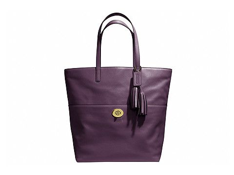82f6f62dd1d2 Coach leather tote. The deep purple is a fresh neutral ...