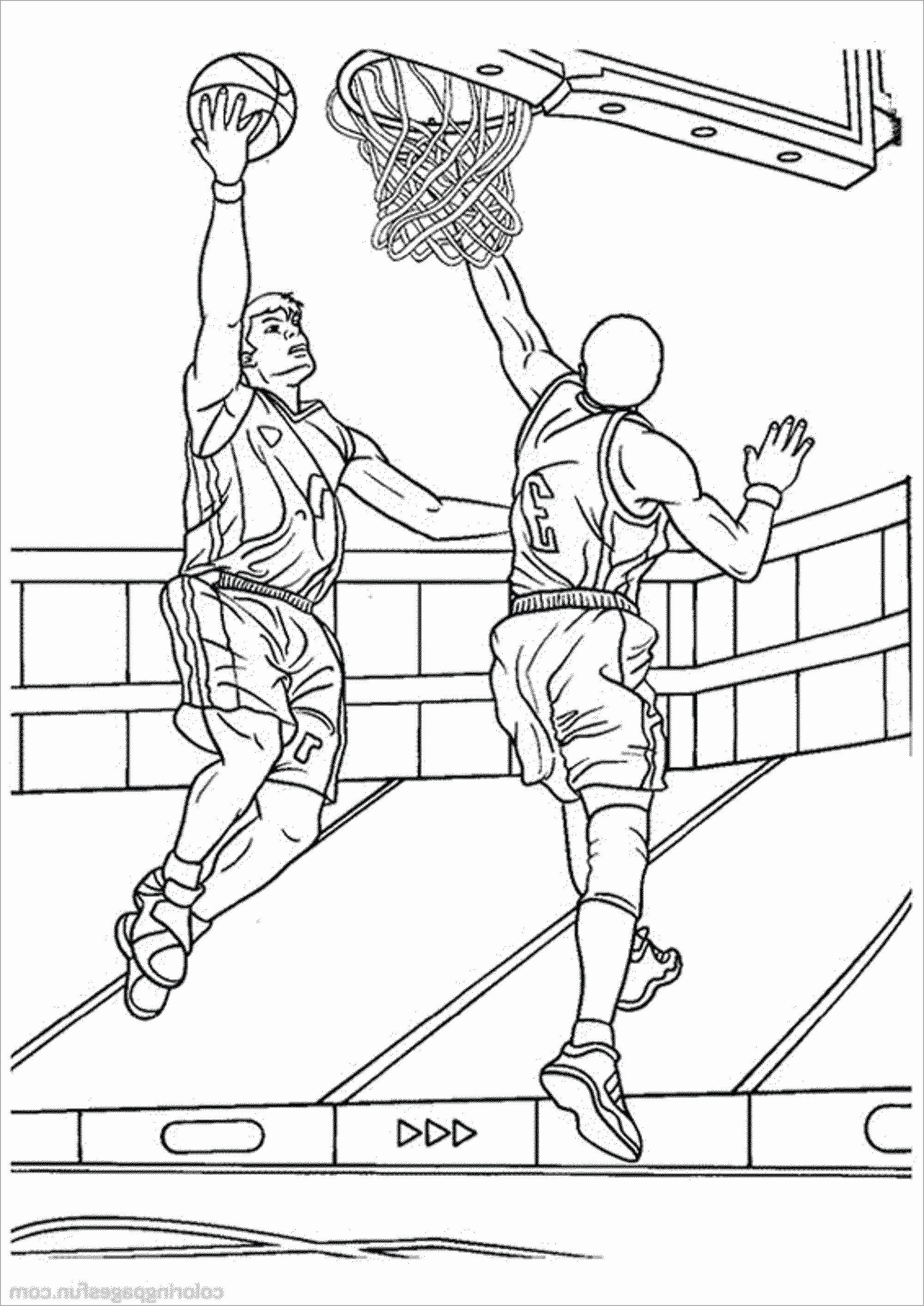 Coloring Sports Pages Inspirational Basketball Print Out