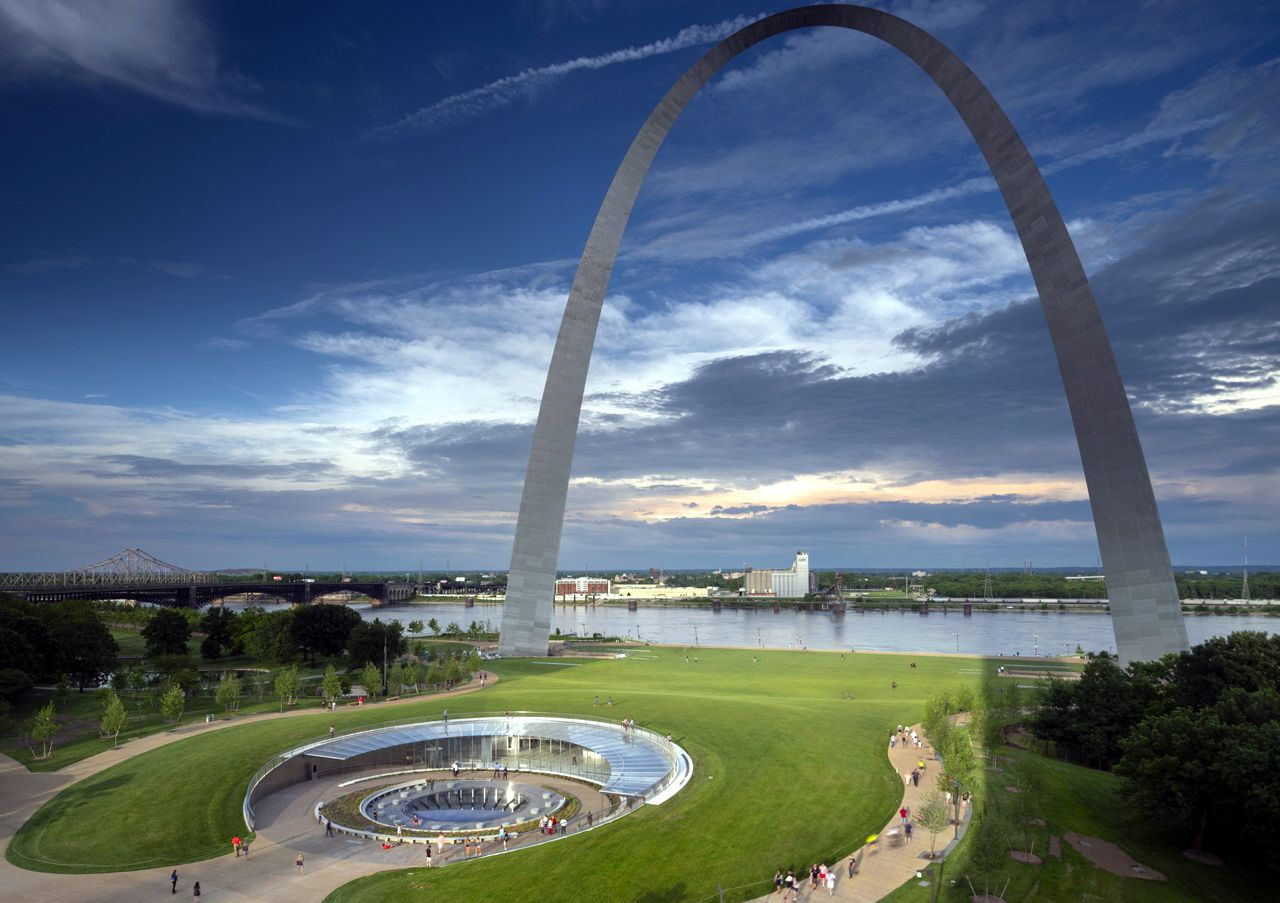 Enjoyed the views from the top of the St Louis Arch September