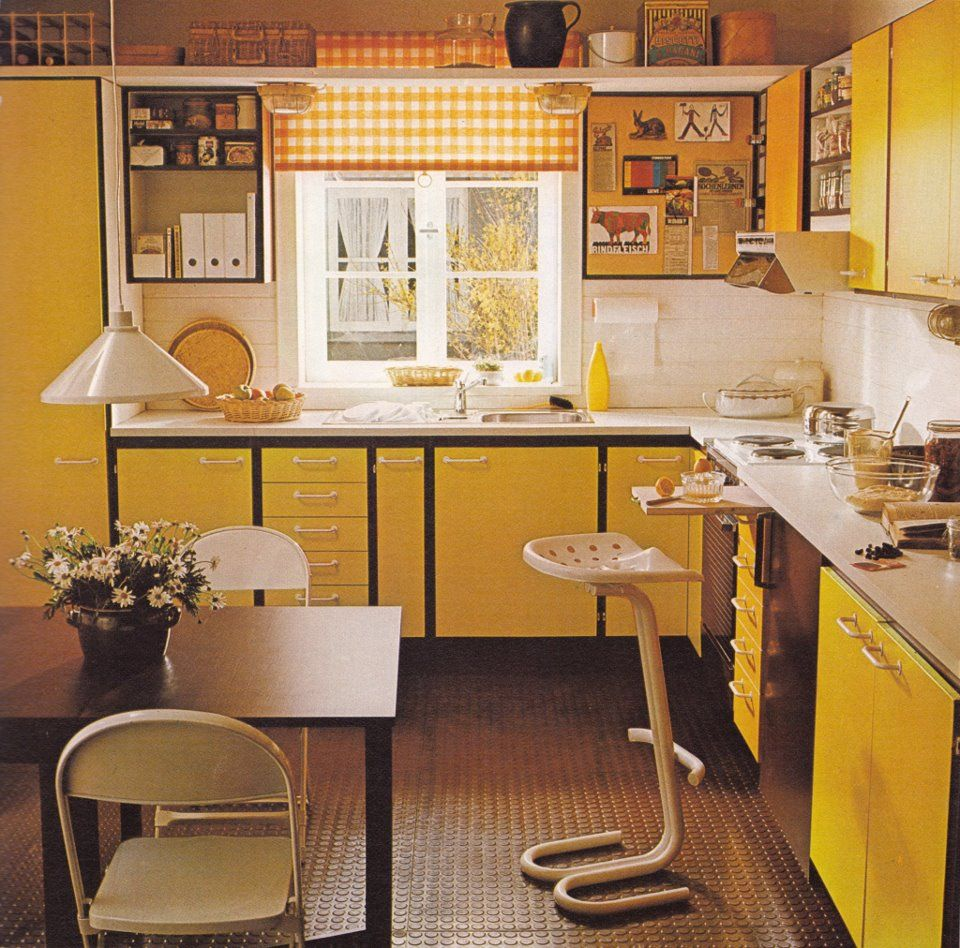Yellow Kitchen Art: Retro Design In 2019