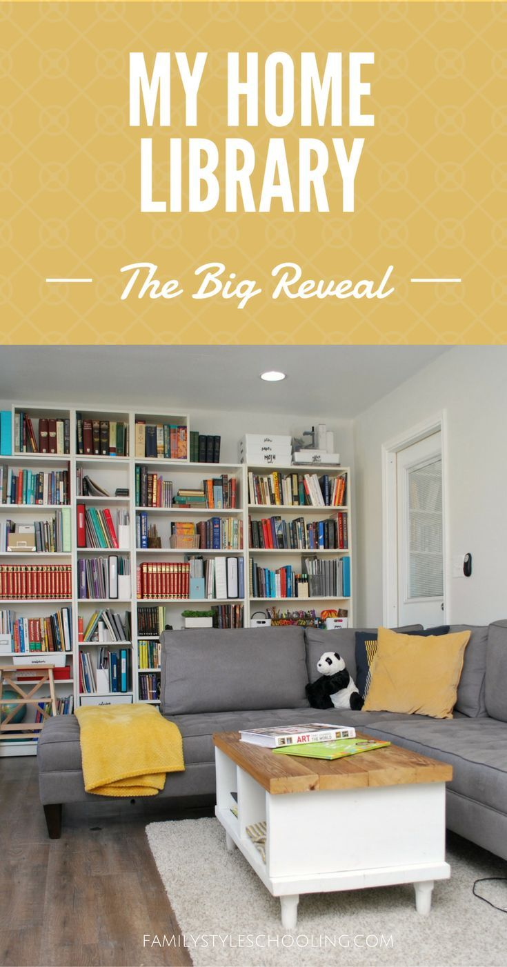 Ikea Home Office Library Ideas: My Home Library - The Big Reveal