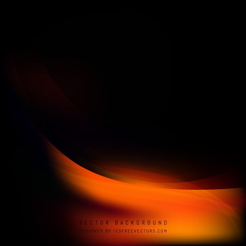 Abstract Black Orange Fire Wave Background Template Waves Background Background Templates Best Background Images