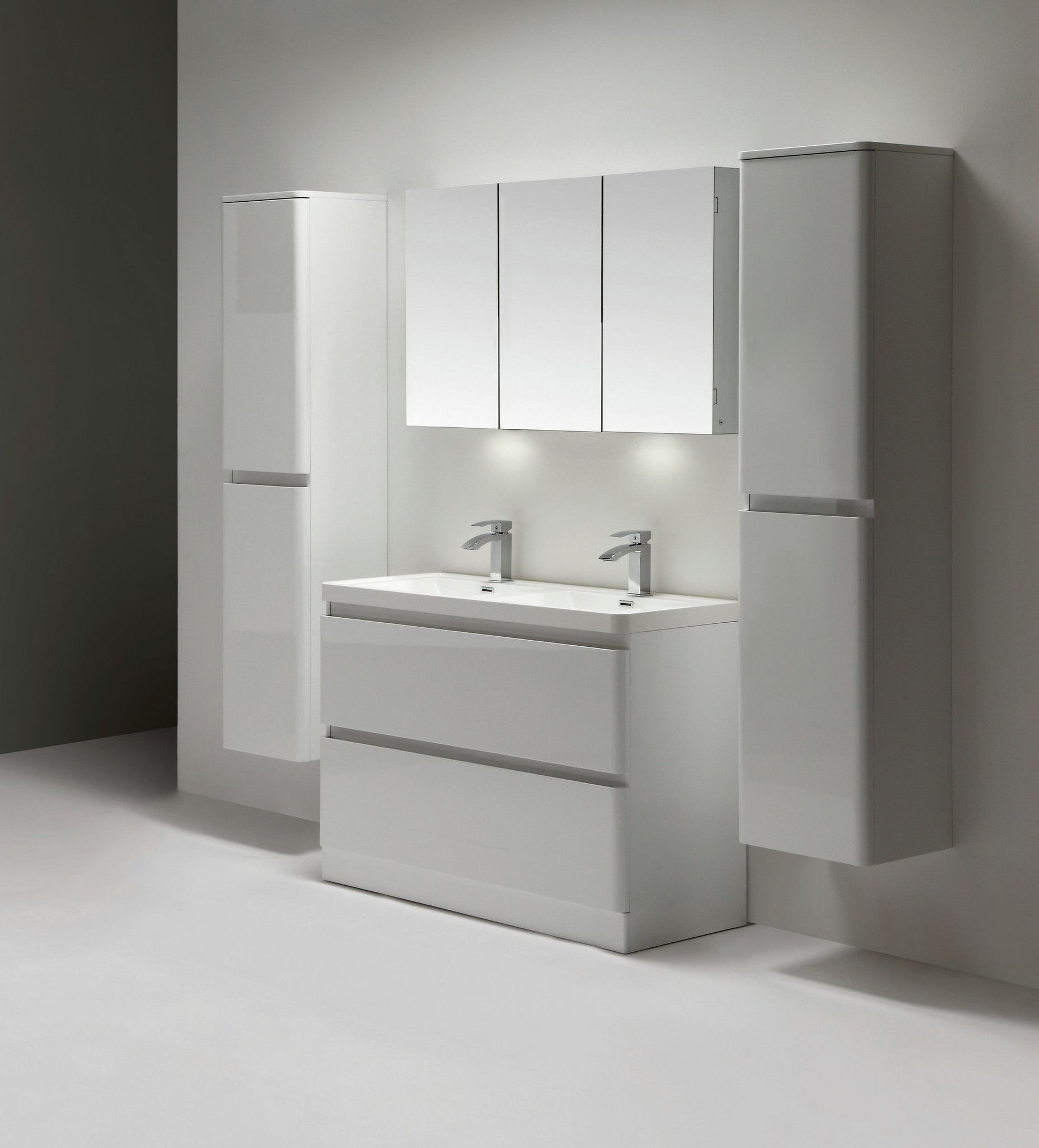Eviva Glazzy 48 Floor Mount Modern Bathroom Vanity With Double
