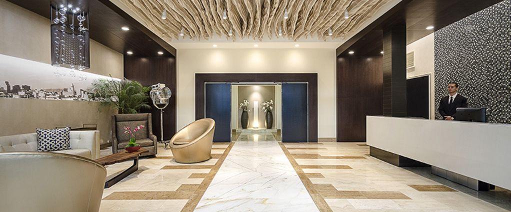 Chic Luxury Apartment Building Lobby On Home Design Ideas Modern