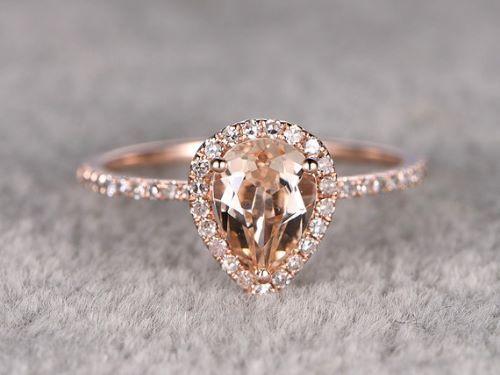 25 beautiful morganite engagement ring inspirations - Morganite Wedding Rings