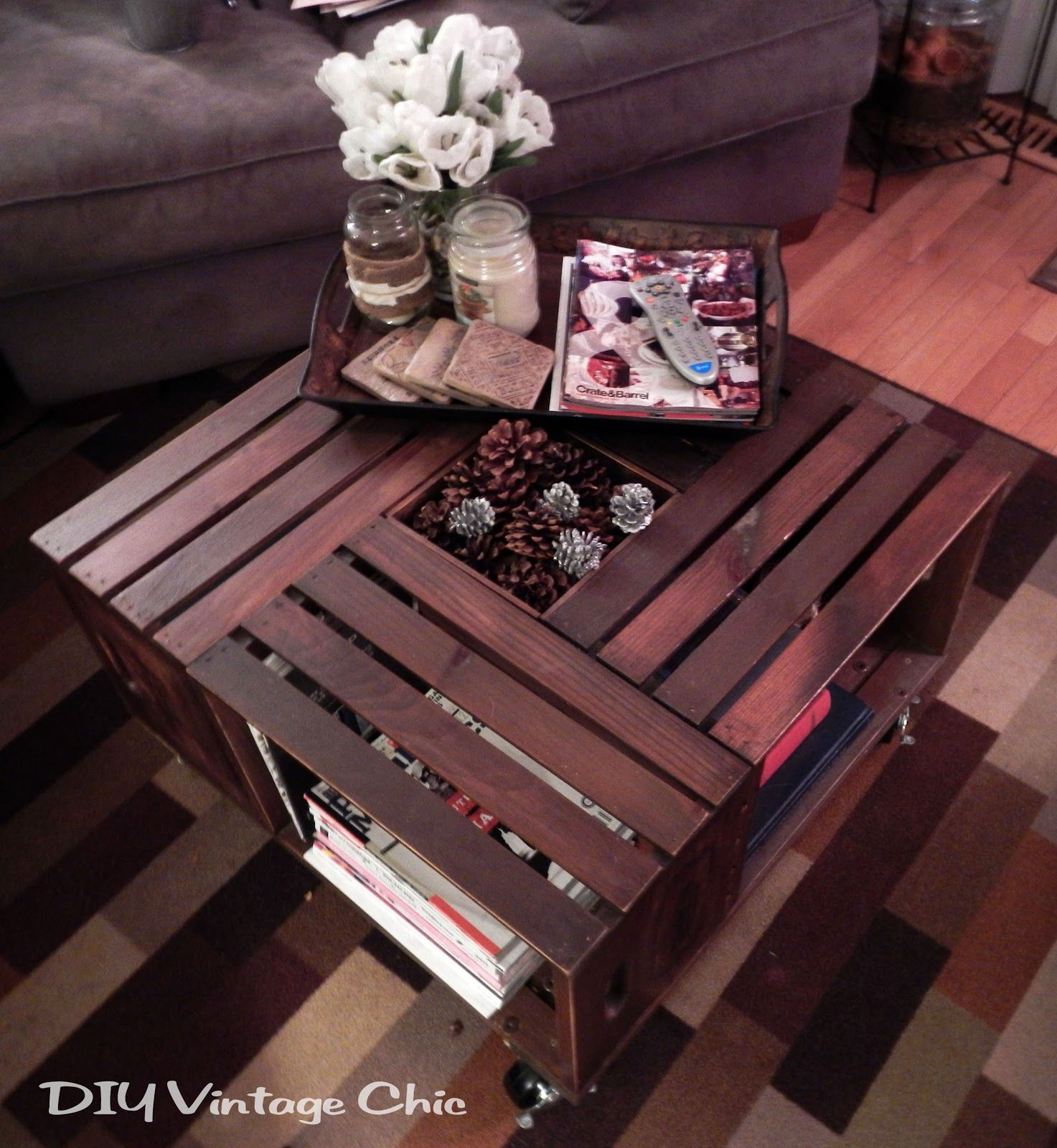 Repurposed crate ideas idea box by jen girl in the garage for Where can i find old wine crates