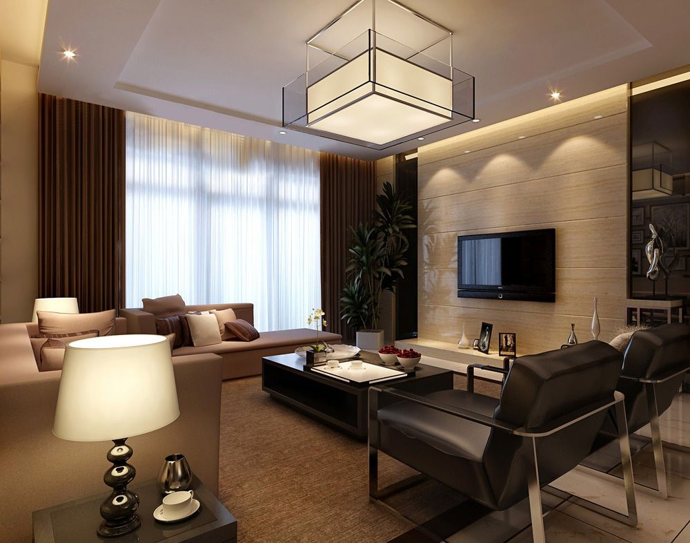 Modern Living Room Furniture Design: Beautiful Modern Living Room 3d Design