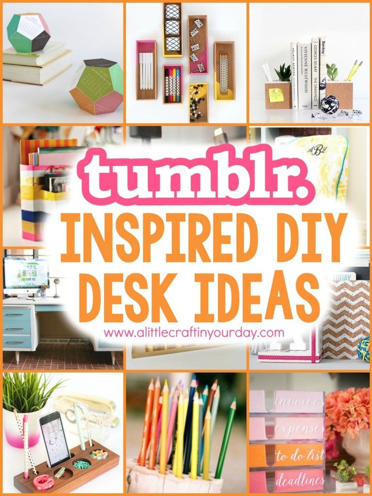 Tumblr inspired diy desk ideas deko ideen deko und for Zimmerdekoration diy