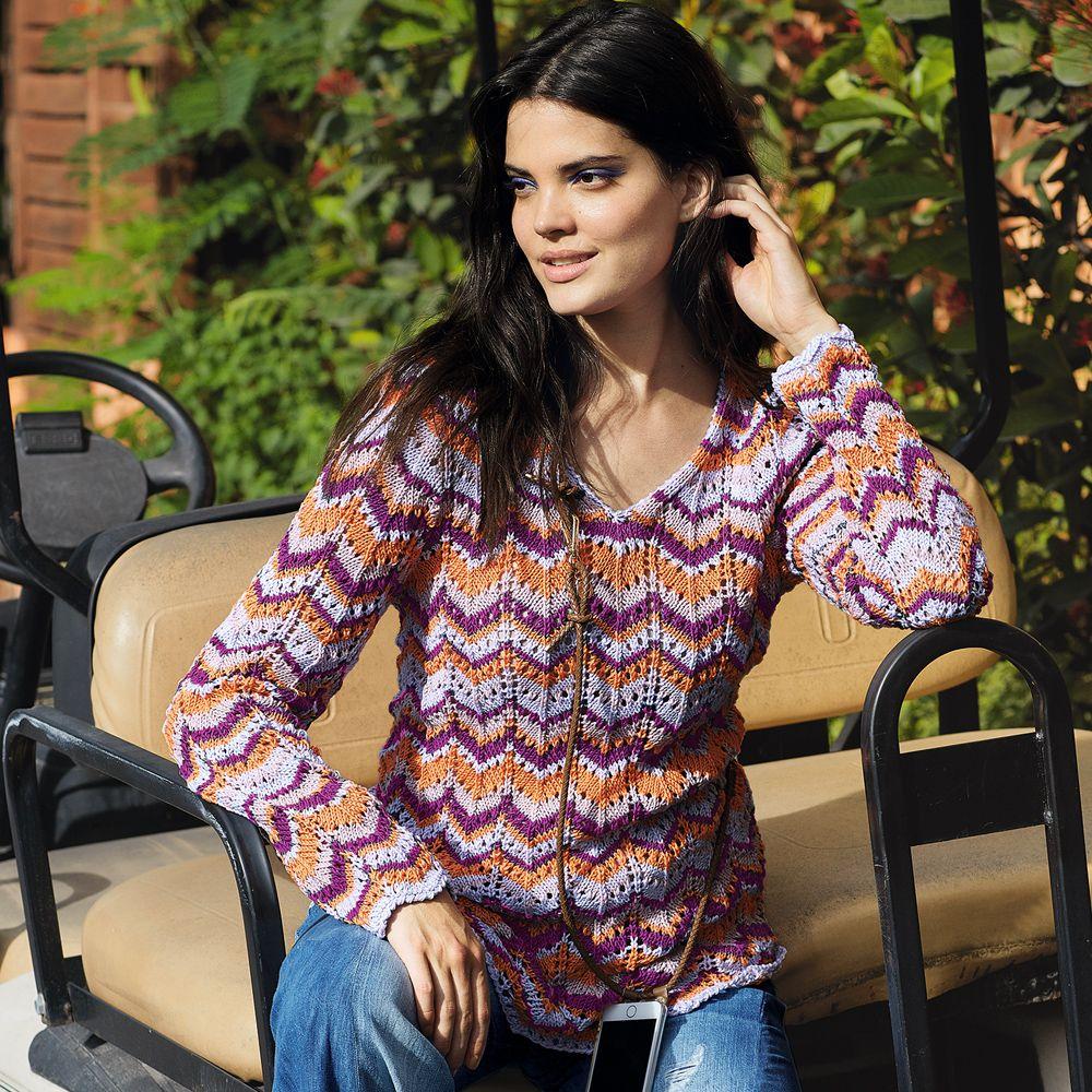 спицами фото и схемы пуловер женский зигзаг поступил двухклассное уездное