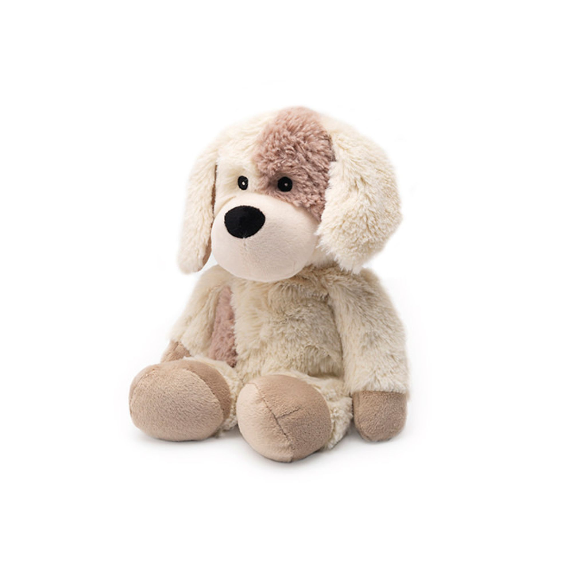 """13"""" Beige and Brown Microwavable Plush Puppy Stuffed"""