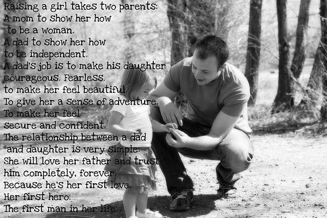 Daddy captions daughter girl little