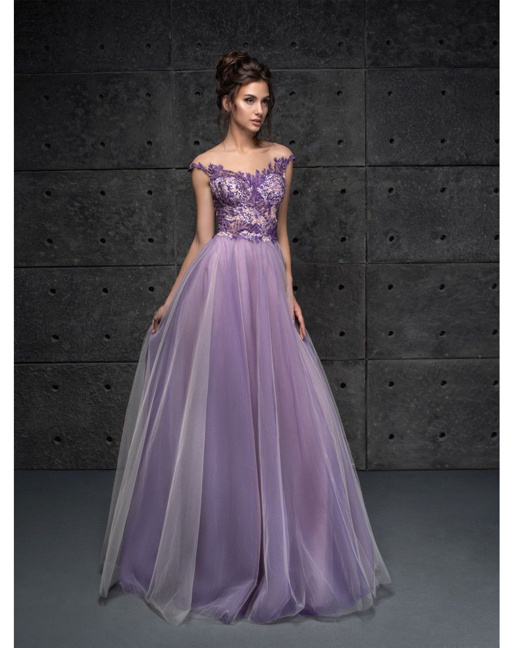 051f77a4688c Dlhé fialové luxusné spoločenské šaty Frances vhodné na ples