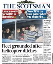 A LEADING helicopter company last night grounded its entire fleet of Super Puma EC225 helicopters after one of the aircraft, with 19 people on board, was at the centre of a dramatic rescue in the North Sea. A total of 17 passengers and two crew were rescued after the helicopter was forced to ditch 32 miles south of Shetland yesterday afternoon. Operator CHC Helicopters announced it would temporarily suspend flights using the EC225, as offshore unions voiced fresh fears about the safety of…