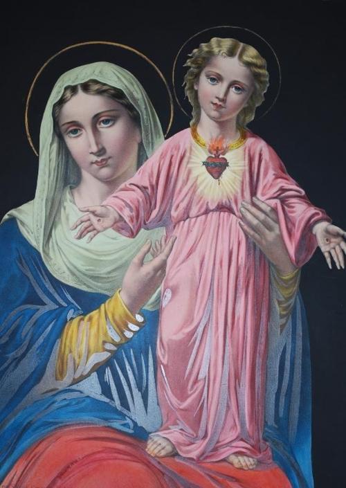 8f3a38fb960e4 Image pieuse- La vierge Marie et l enfant Jesus
