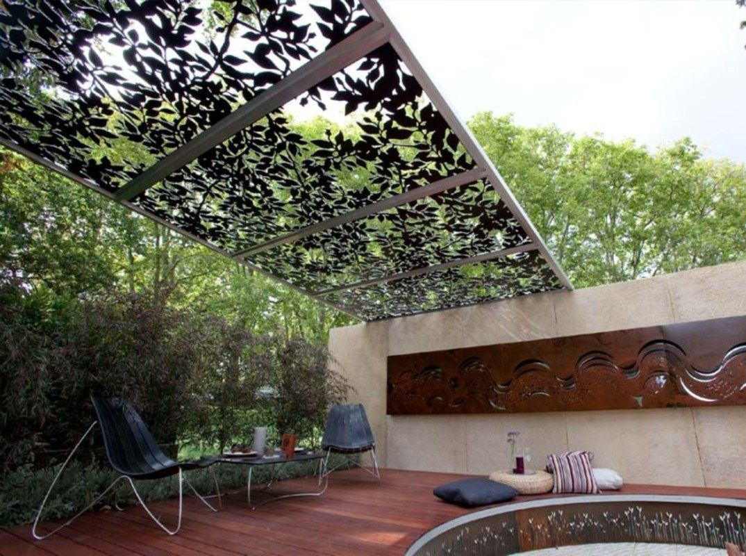 Outdoor room with laser cut panels laser cut pinterest pergola