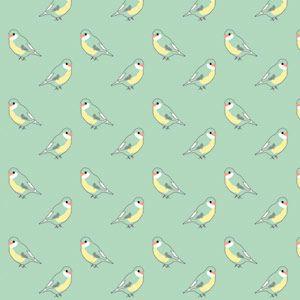 Papier peint chambre enfant vert menthe imprim oiseau mimi lou en 2019 chambre b b papier - Chambre bebe vert menthe ...