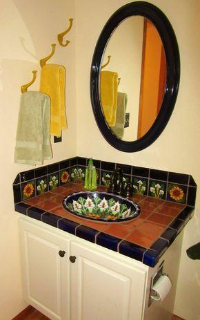 51 Bathroom Sinks Ideas Mexican Decor, Spanish Style Bathroom Sinks