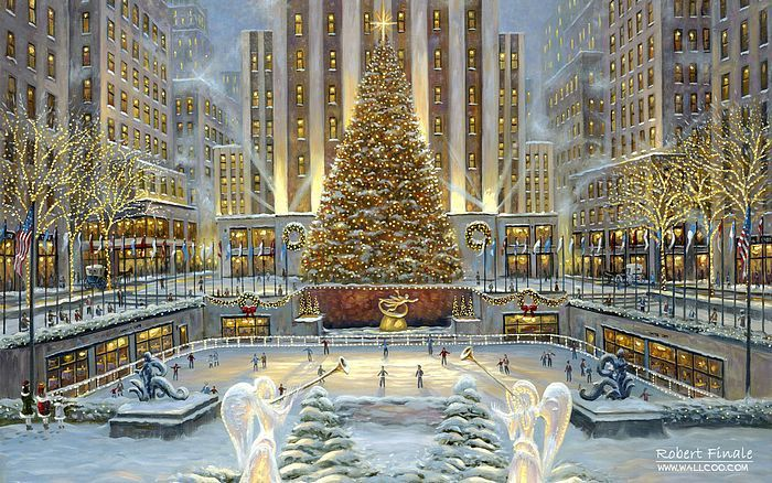 Impressionist Art Of New York City Google Search New York Christmas Christmas Paintings Holidays In New York