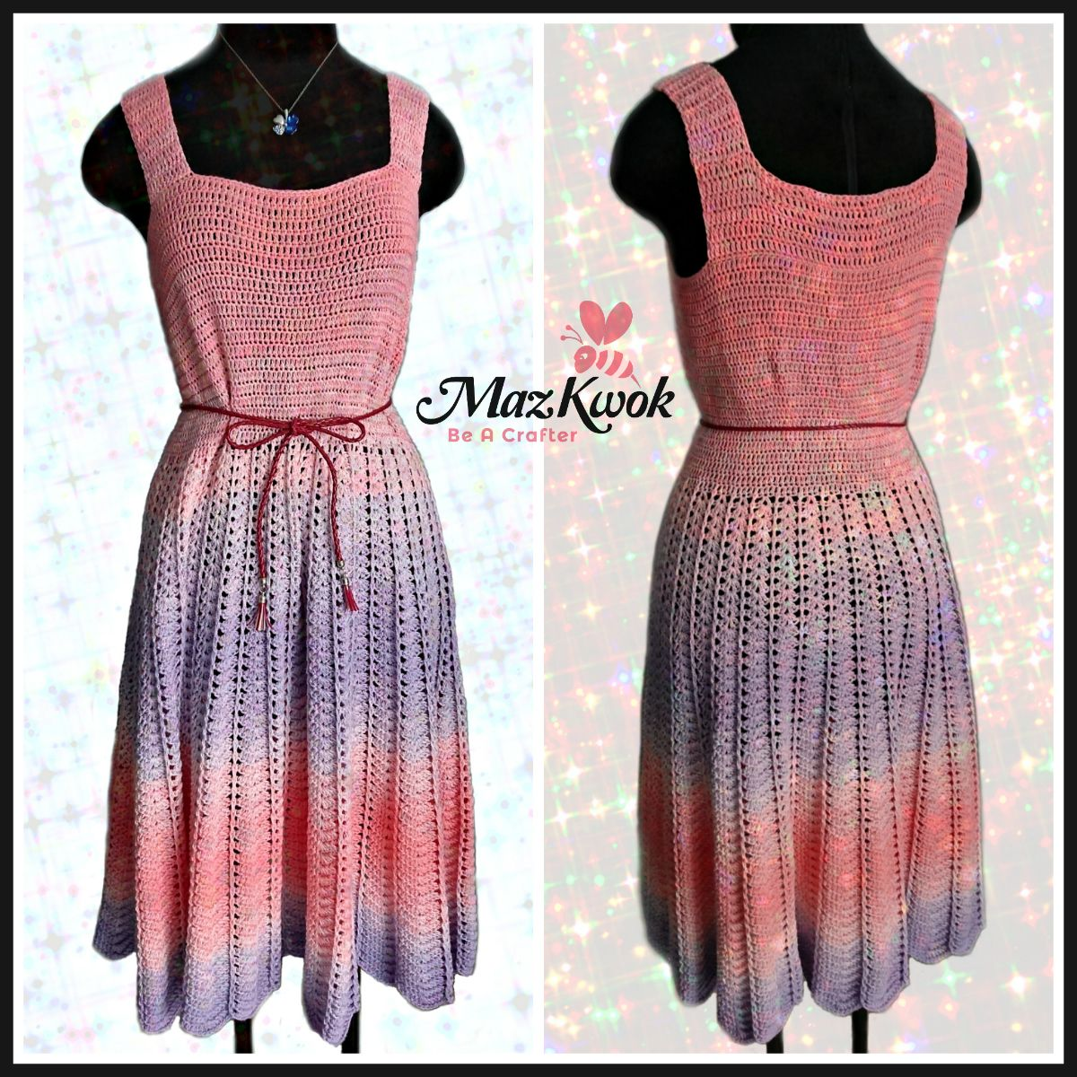 Sun dress is an iconic outfit in sunny days. Learn how to crochet a ...
