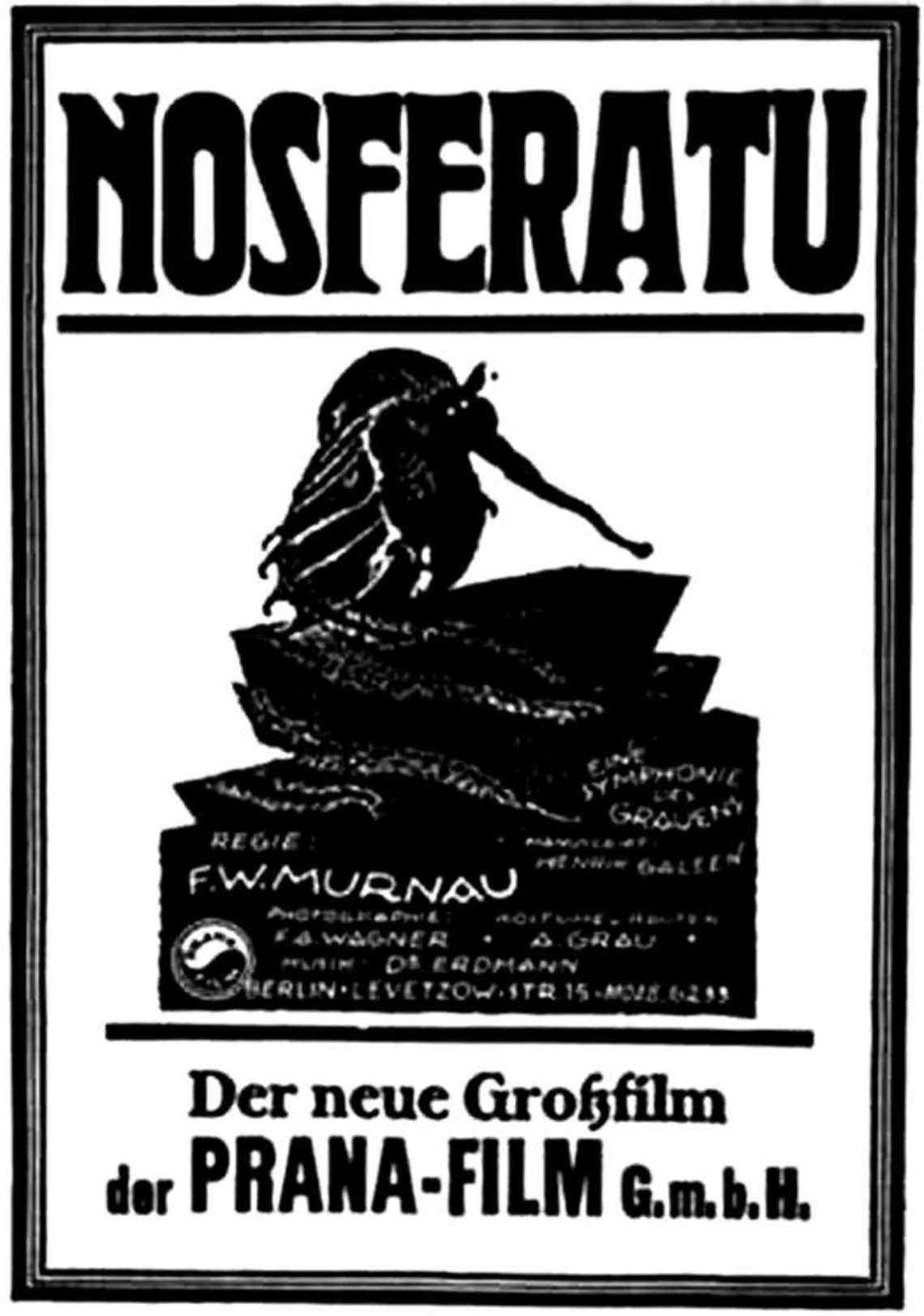 Nosferatu Movie Poster 1922 This Film Was An Unauthorized Version