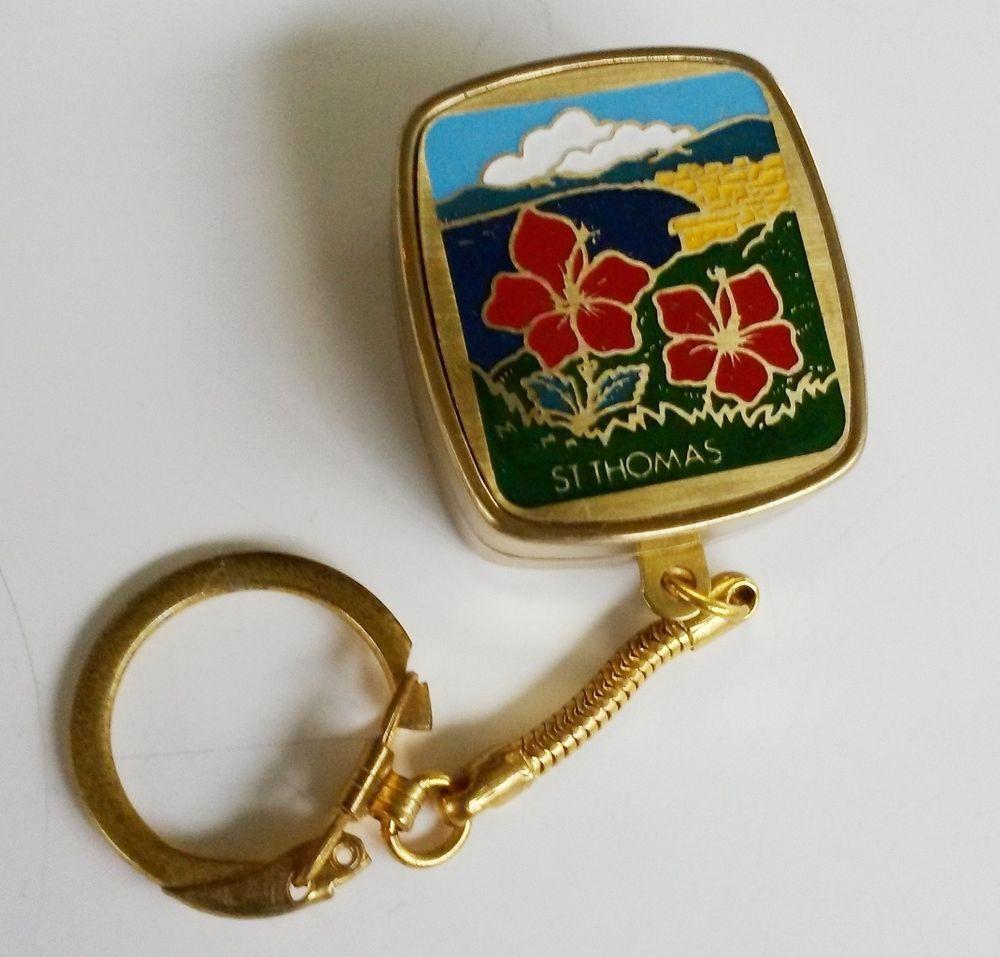 Vintage Sankyo Music Box Keychain St Thomas Dr Zhivago Somewhere My