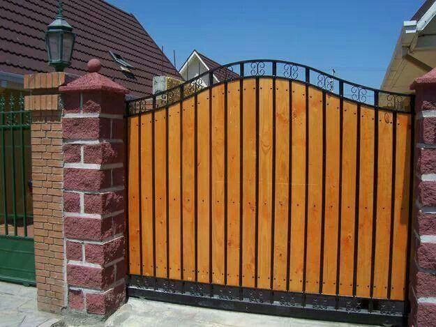 Porton portones y rejas en madera pinterest gates for Portones para garage