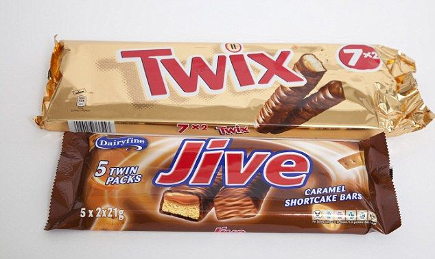Uncanny: Aldi's Jive caramel and chocolate shortcakes bear a ...