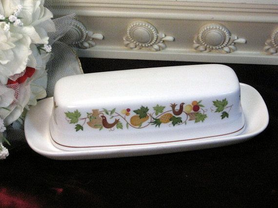Vintage Noritake China Homecoming Progression Oblong Butter Dish on Etsy, $34.99