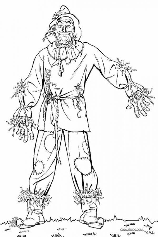Scarecrow From Wizard Of Oz Kids Printable Coloring Pages With
