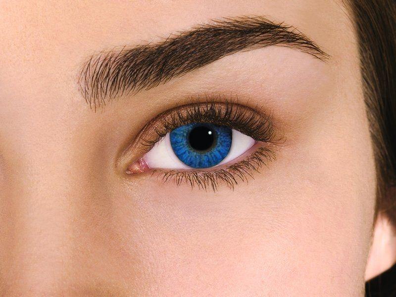 a3fb91e731a Lentilles de couleur bleu brillant. Pour des yeux bleu océan.... Air Optix  Colors - non correctrice mensuelle