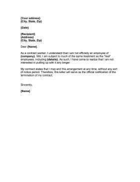 How To Write A Resignation Letter For Hostile Work Environment