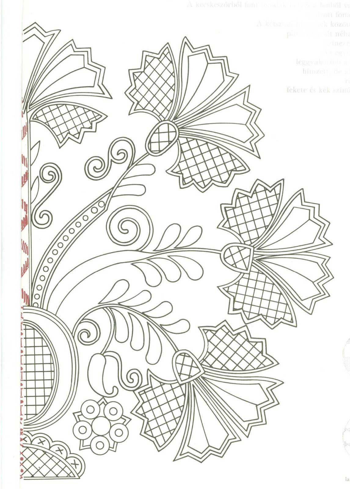 Beautiful Folk Art Floral Embroidery Patterns