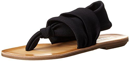 e24f964bf20d Dirty Laundry by Chinese Laundry Womens Bright Spot Shimm Flat Sandal Black  9 M US     This is an Amazon Affiliate link. You can find out more details  at ...