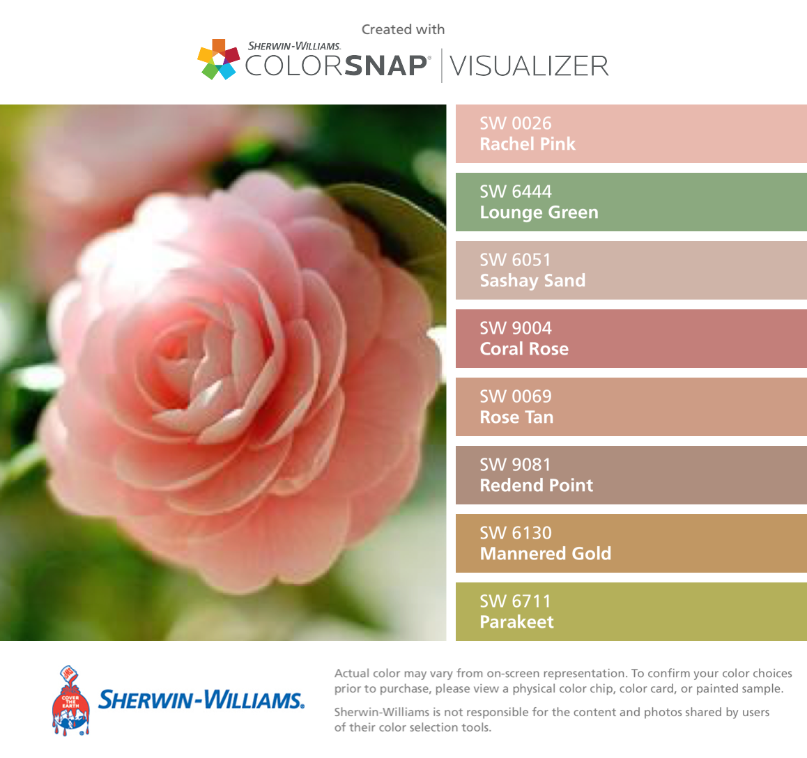 Sun-kissed Rose Petals Sherwin-Williams: Rachel Pink (SW 0026 ...