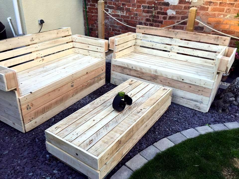 recycled wooden pallet garden furniture - Garden Furniture From Pallets