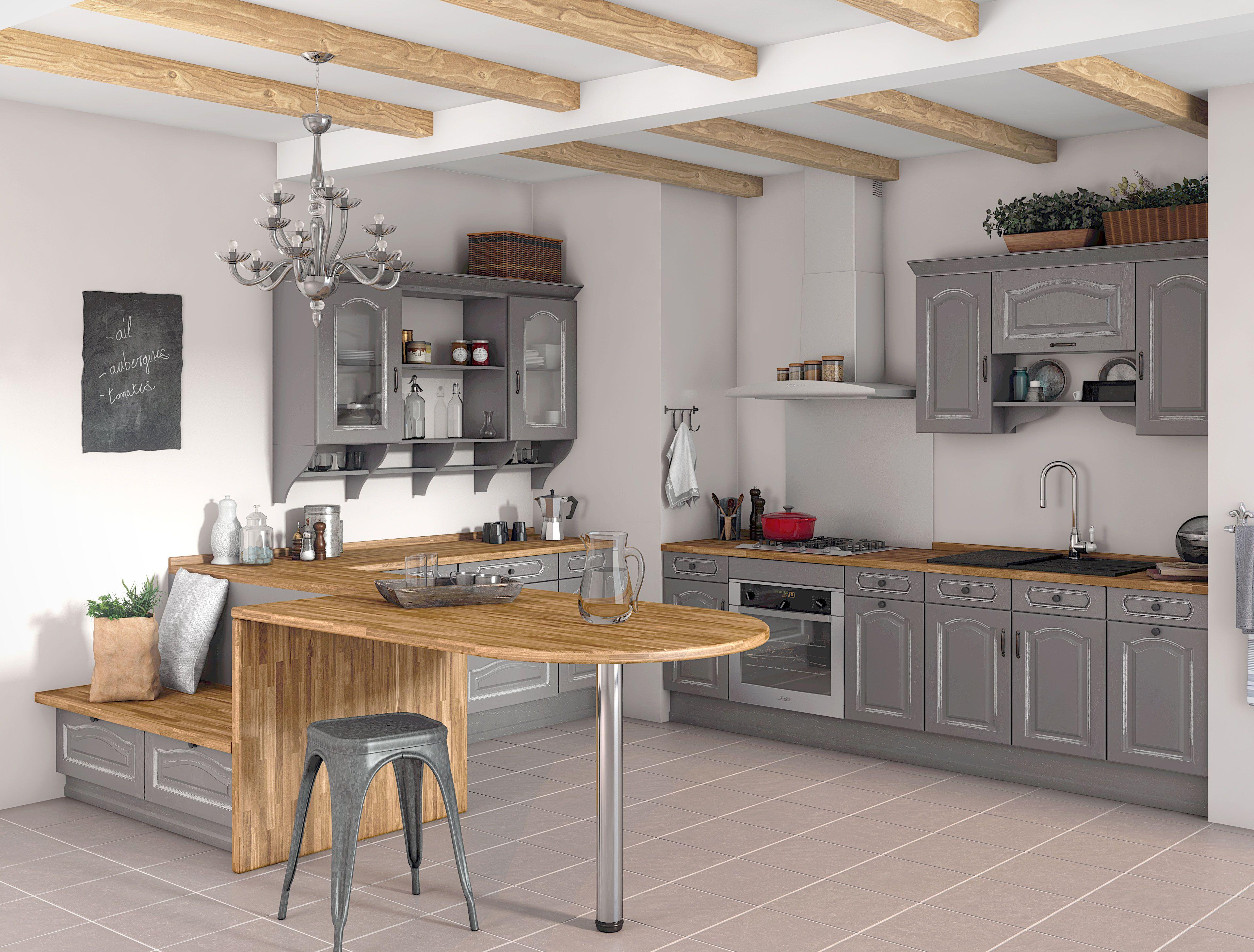 Perspective De Cuisine Realisee Pour Lapeyre Banquette Cuisine Idee Amenagement Cuisine Table Cuisine Ikea