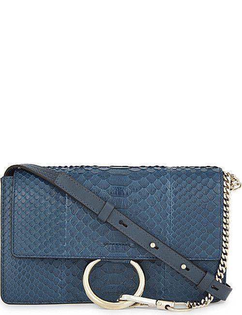 91c0480677 CHLOE Faye snakeskin cross-body bag | Désir | Bags, Crossbody bag, Chloe