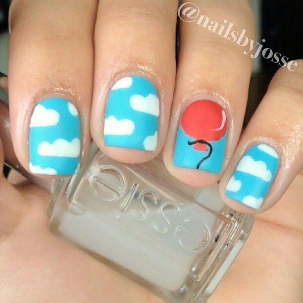 Ballon & sky fácil | Diseño de uñas/ Nail design | Pinterest ...