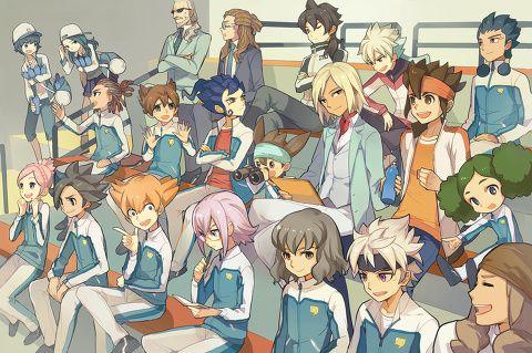 「「ゴ~~~~~ル!」」/「南城」のイラスト [pixiv] Goenji, Endou & The Team   Inazuma Eleven GO