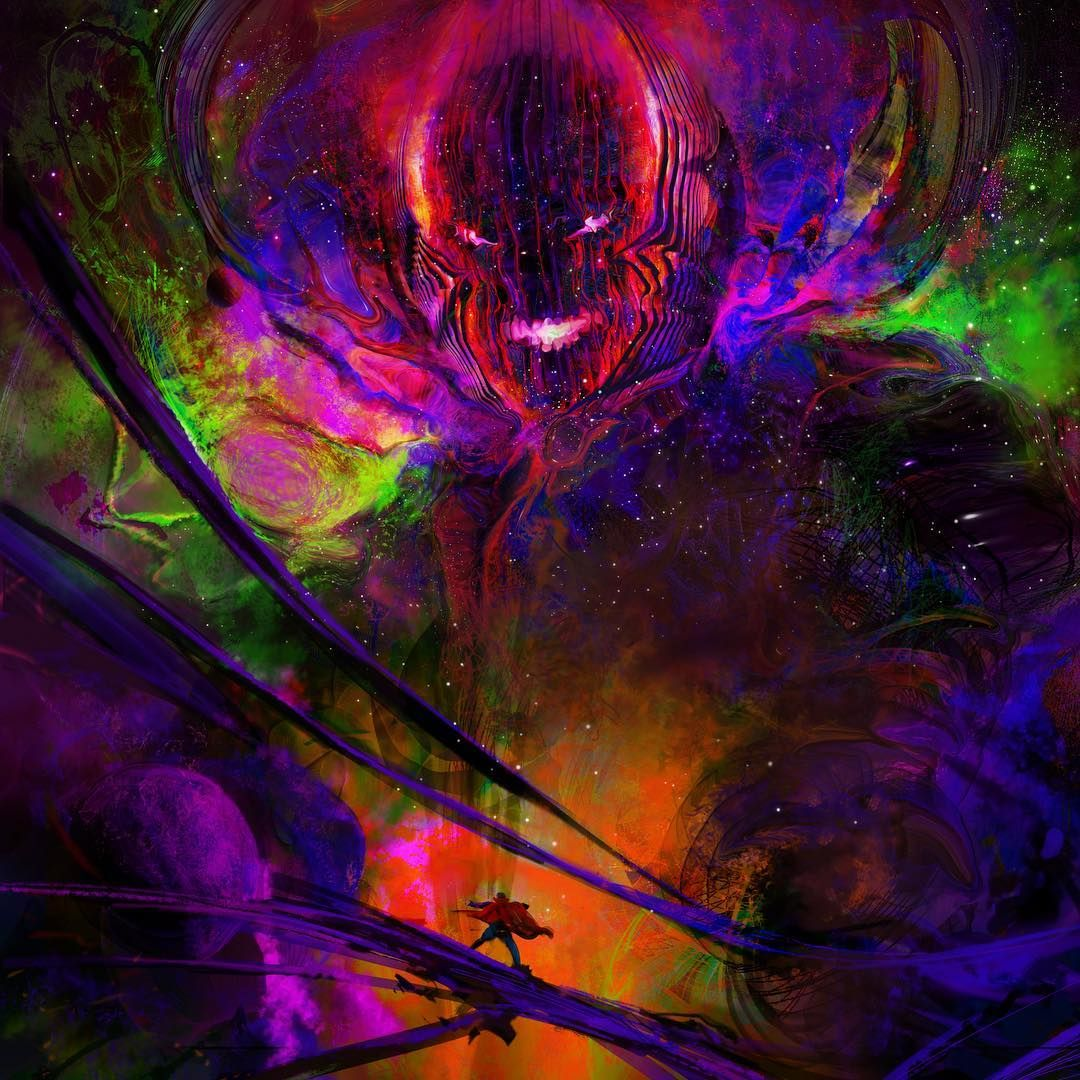 """Dormammu, I've come to bargain!! """". It was a mind bender working on the design for this guy! Here's more o…   Doctor strange marvel, Doctor strange, Marvel artwork"""