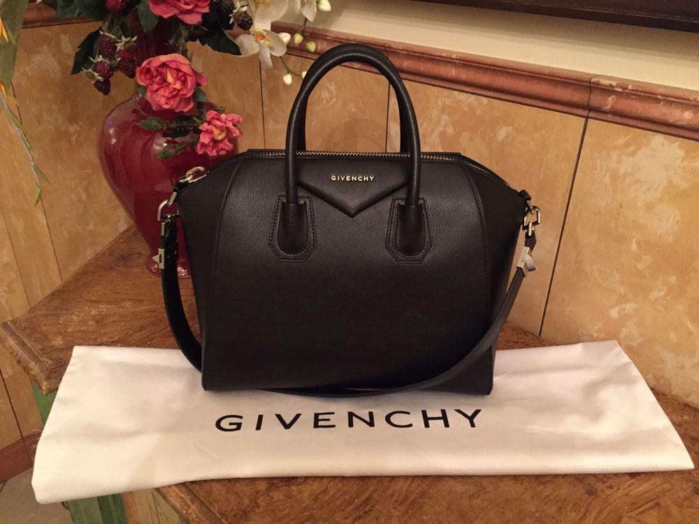 bc13fc4e96 GIVENCHY ANTIGONA BLACK MEDIUM BAG LAMB LEATHER MADE IN ITALY HANDMADE   Givenchy  BAG
