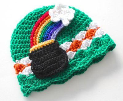 Pot O\' Gold Hat free crochet pattern - Free Crochet St. Patrick\'s ...