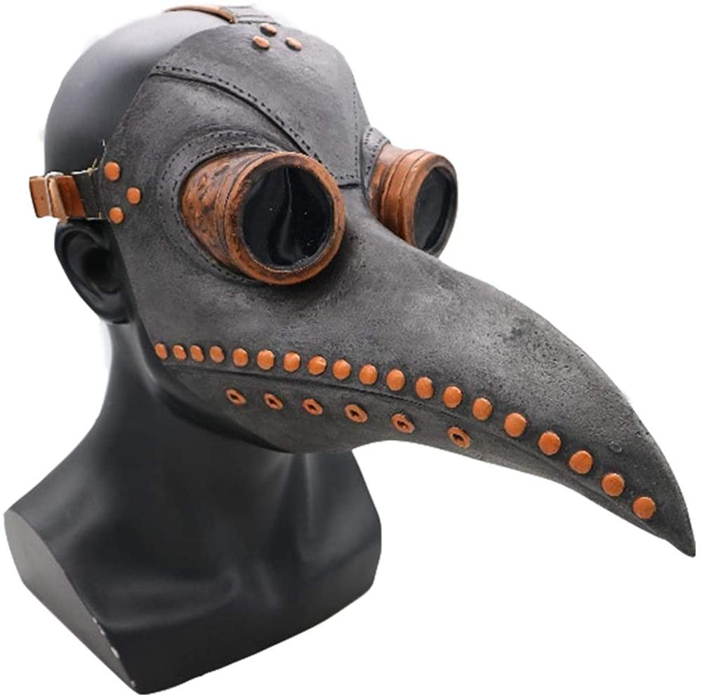 Amazon Com Szkn Plague Doctor Bird Face Cover Long Nose Beak Cosplay Retro Costume Bro Halloween Costume Props Steampunk Halloween Costumes Plague Doctor Mask