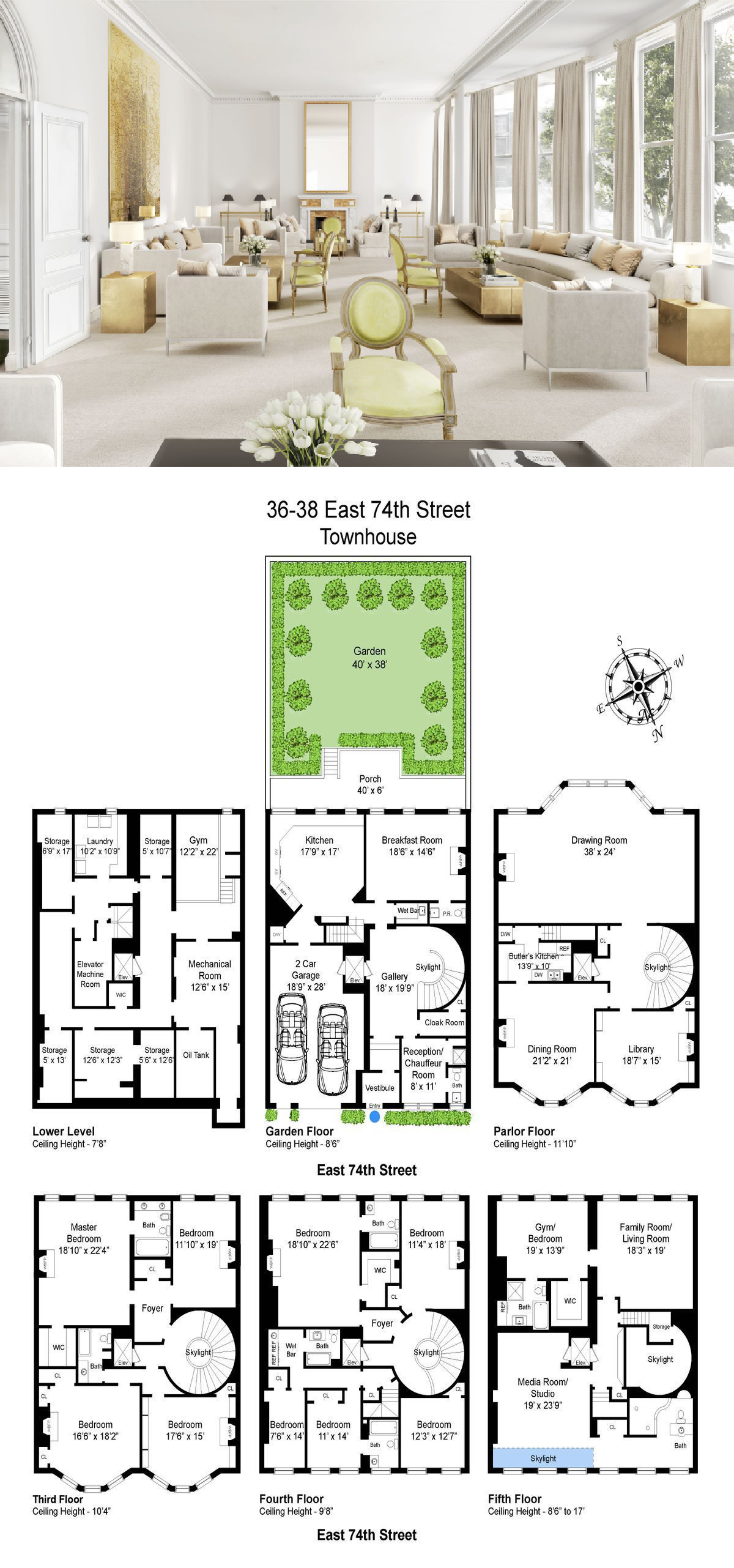 Stately Neo Federal Upper East Side Townhouse Seeks 28 7m Apartment Floor Plans Townhouse Interior House Plans