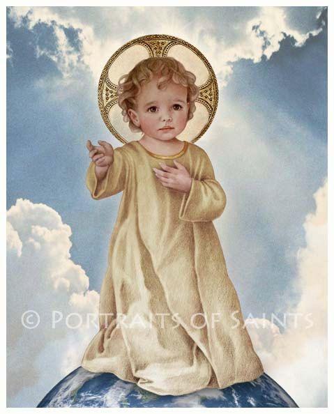 Savior of the World, Infant Jesus, Christ Child, Catholic Art Print